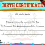 Cute Baby Boy Birth Certificates Free Printable Birth Regarding Unique Cute Birth Certificate Template