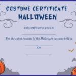 Cutest Halloween Costume Certificate Template | Certificate pertaining to Halloween Certificate Template