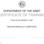 Da Form 87 Download Printable Pdf Or Fill Online Certificate Within Unique Army Certificate Of Completion Template