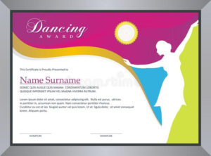 Dance Award Certificate Stock Illustrations – 24 Dance Award inside Dance Award Certificate Template