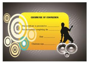 Dance Certificate Template – 26+ Free Certificates For Dance inside New Hip Hop Certificate Templates