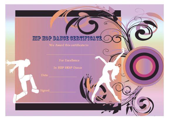 Dance Certificate Template - 26+ Free Certificates For Dance regarding New Hip Hop Dance Certificate Templates