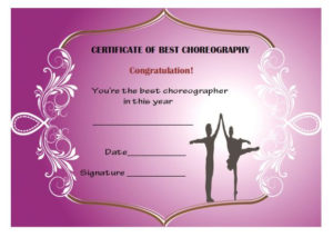 Dance Certificate Template – 26+ Free Certificates For Dance throughout Best Dance Certificate Template