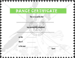 Dance #Certificate #Template | Certificate Templates, Awards pertaining to Dance Certificate Template