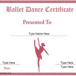 Dance Certificate Template | Certificate Templates With Regard To Ballet Certificate Template