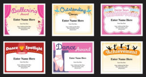 Dance Certificate Templates | Dancing Award Certificates with regard to Quality Dance Award Certificate Templates