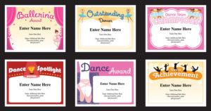 Dance Certificate Templates | Dancing Awards | Dance Class inside Quality Dance Award Certificate Template