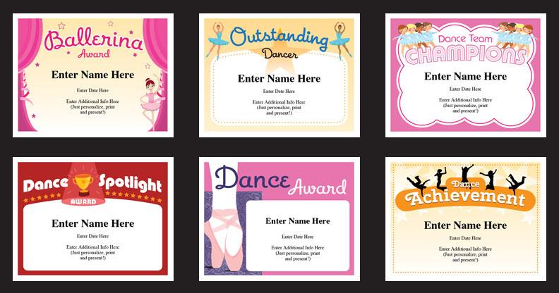 Dance Certificate Templates | Dancing Awards | Dance Class with Dance Certificate Templates For Word 8 Designs