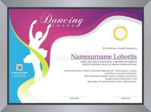 Dancing Certificate Stock Vector. Illustration Of Geometric inside Dance Certificate Template