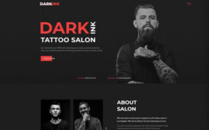 Darkink – Tattoo Salon Multipage Html5 Website Template within Tattoo Certificates Top 7 Cool Free Templates