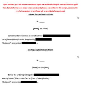 Death Certificate Reference Guide inside Death Certificate Translation Template