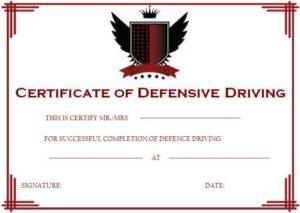 Defensive Driving Certificate   Certificate Templates for Unique Safe Driving Certificate Template