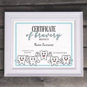 Dentist Certificate Of Bravery Editable Kids Certificate intended for Best Bravery Certificate Template 10 Funny Ideas