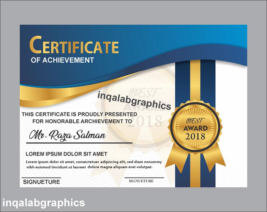Design A Certificate Template (3) - Templates Example with regard to Design A Certificate Template