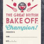 Design Context: What Is Good – British Bake Off Party Pack Inside Best Bake Off Certificate Templates