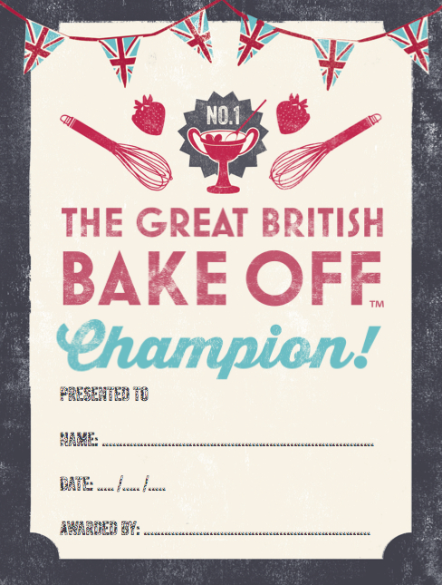 Design Context: What Is Good - British Bake Off Party Pack intended for Bake Off Certificate Template