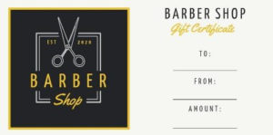 Design Your Own Barber Shop Gift Certificate for Barber Shop Certificate Free Printable 2020 Designs