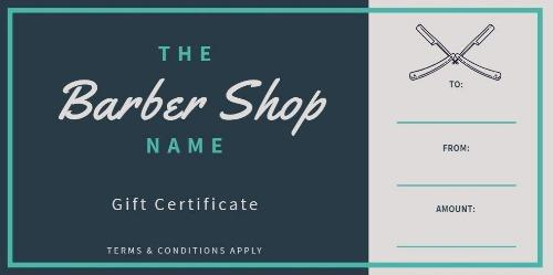 Design Your Own Barber Shop Gift Certificate regarding Quality Barber Shop Certificate Free Printable 2020 Designs