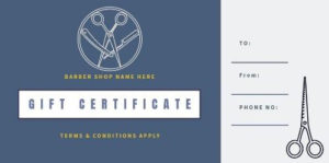 Design Your Own Barber Shop Gift Certificate within Quality Barber Shop Certificate Free Printable 2020 Designs