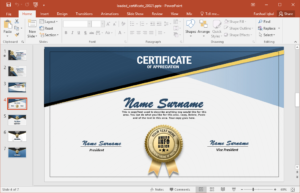 Design Your Own Personalized Certificates – Fppt with regard to Powerpoint Certificate Templates Free Download