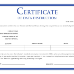 Destruction Certificate Template (1) – Templates Example With Regard To New Free Certificate Of Destruction Template