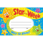 Details About 30 Kids Star Of The Week Reward Recognition Certificate Awards For Star Of The Week Certificate Template
