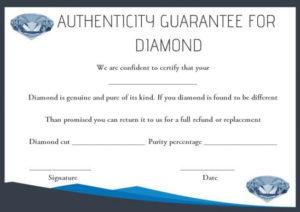Diamond Certificate Of Authenticity Template | Simple Words within Certificate Of Authenticity Templates