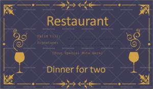 Dinner Certificate Template Free – Best Creative Template Design intended for Dinner Certificate Template Free