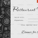 Dinner For Two Gift Certificate Templates – Editable With Unique Restaurant Gift Certificates Printable