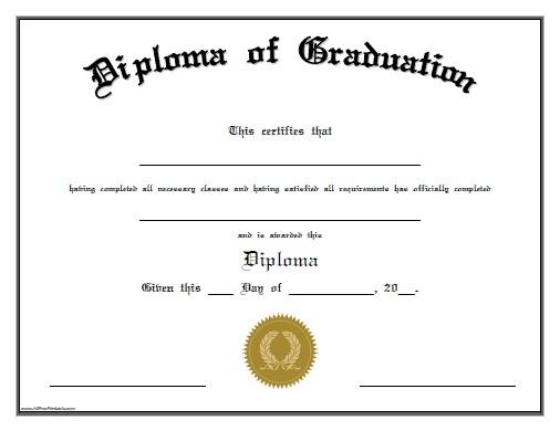 Diploma Of Graduation - Free Printable - Allfreeprintable within Pre Kindergarten Diplomas Templates Printable Free