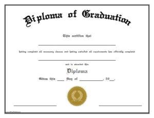 Diploma Of Graduation – Free Printable – Allfreeprintable within Preschool Graduation Certificate Template Free