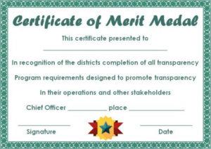 District Award Of Merit Certificate Template: 10 Free And with Merit Certificate Templates Free 10 Award Ideas