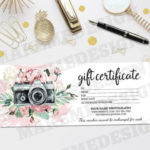 Diy Gift Card Archives – Makemedesign For Printable Photography Gift Certificate Template