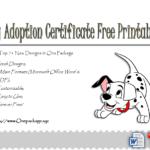 Dog Adoption Certificate Free Printable Ideas In 2020 | Dog throughout Dog Adoption Certificate Free Printable 7 Ideas