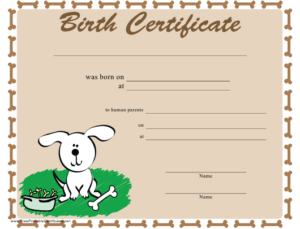Dog Birth Certificate Template Download Printable Pdf throughout Quality Pet Birth Certificate Template