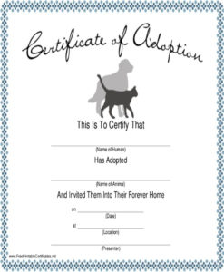 Dog Certificate Template 9 Free Pdf Documents Download Birth for Puppy Birth Certificate Template
