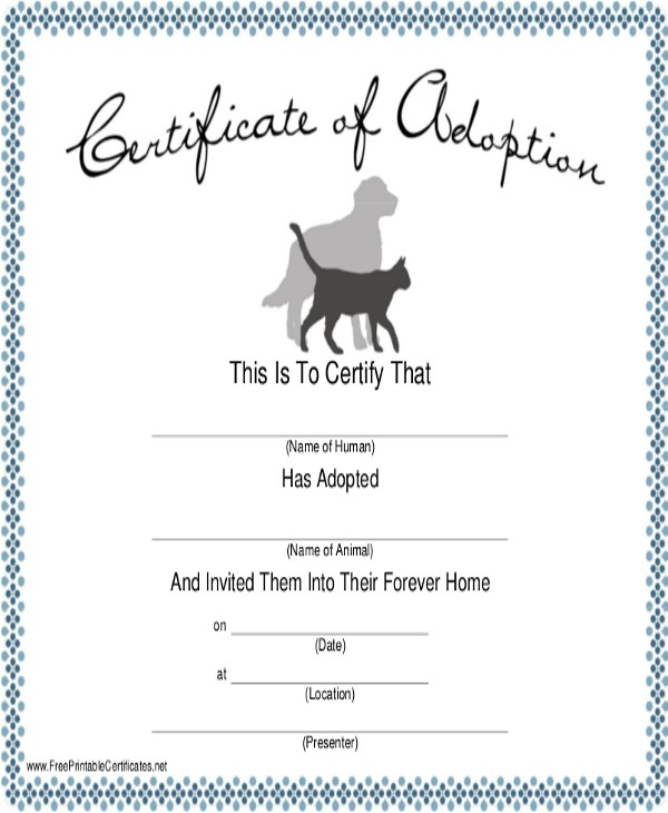 Dog Certificate Template 9 Free Pdf Documents Download Birth in Pet Birth Certificate Template