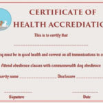 Dog Health Certificate For Travel Templates   Certificate pertaining to Dog Obedience Certificate Template Free 8 Docs