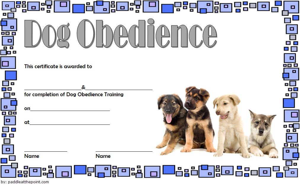Dog Obedience Training Certificate Template Free 3 | Dog pertaining to Fresh Dog Obedience Certificate Template Free 8 Docs