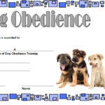 Dog Obedience Training Certificate Template Free 3   Dog Within Dog Obedience Certificate Templates