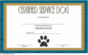 Dog Training Certificate Template Beautiful Dog Training regarding Dog Training Certificate Template Free 10 Best