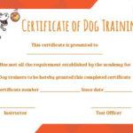 Dog Training Certificate Template   Training Certificate Pertaining To Dog Obedience Certificate Templates