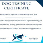 Dog Training Gift Certificate Template   Training Within Dog Obedience Certificate Templates