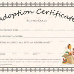 Doll Adoption Certificate Template Inside Pet Adoption Throughout New Toy Adoption Certificate Template