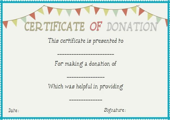 Donation In Honor Of Certificate Template | Donation Letter intended for Quality Donation Certificate Template