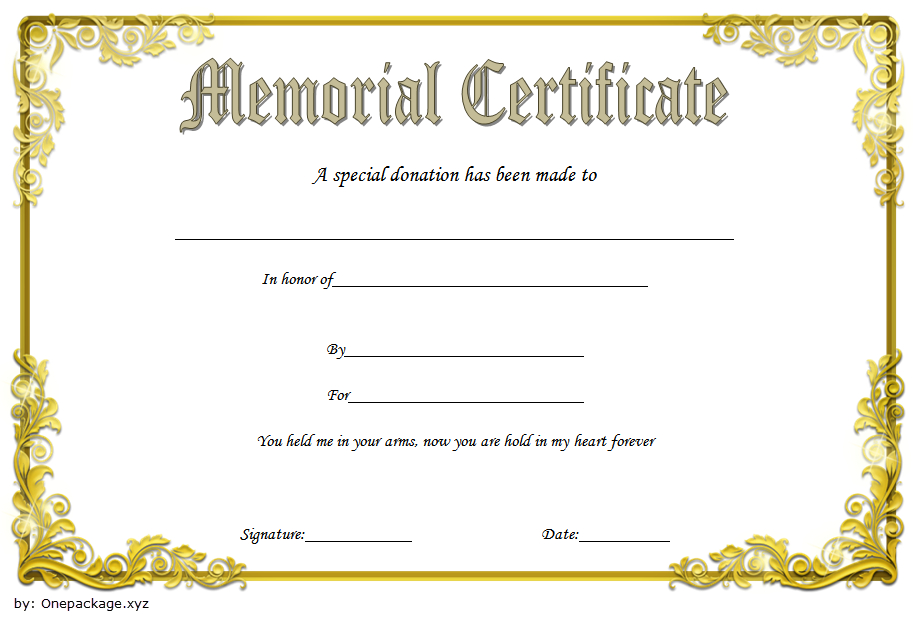 Donation In Memory Of Certificate Template Free 2 intended for New Donation Certificate Template Free 14 Awards