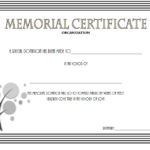 Donation In Memory Of Certificate Template Free 4 within New Donation Certificate Template Free 14 Awards