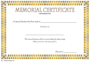 Donation In Memory Of Certificate Template Free 5 intended for New Donation Certificate Template Free 14 Awards