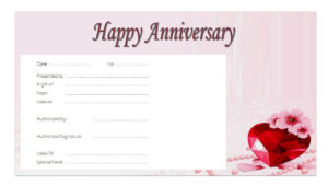Download 2020 Template Ideas Of Anniversary Gift Certificate intended for Quality Anniversary Gift Certificate