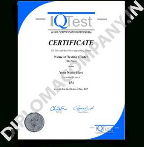 Download Iq Certificate Template Fake Mensa Iq With Iq pertaining to Iq Certificate Template